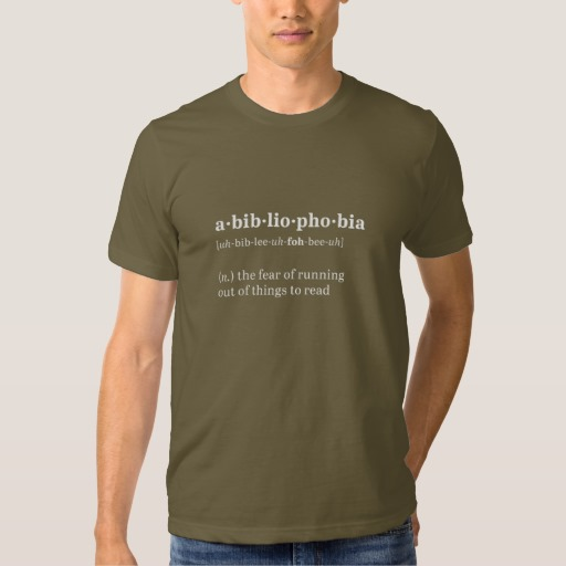 Abibliophobia Definition and Pronunciation Shirt (men's white design)