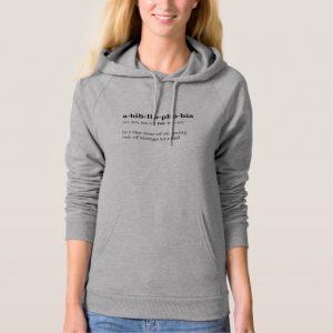 Abibliophobia Definition and Pronunciation Shirt (women's black design)