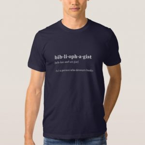 Bibliophagist Definition and Pronunciation Shirt (men's white design)