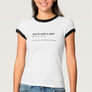 Bibliophagist Definition and Pronunciation Shirt (women's black design)