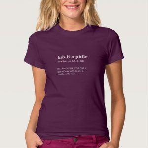 Bibliophile Definition and Pronunciation Shirt (men's black design)
