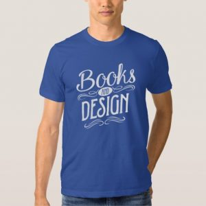 Books and Design Shirt (men's white design)
