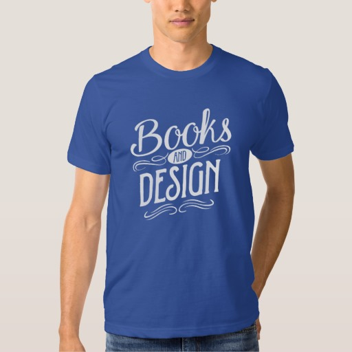 Books and Design Shirt (men's white design)