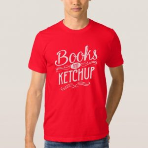 Books and Ketchup Mug (men's white design)