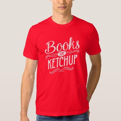 Books and Ketchup Mug (men's white design)