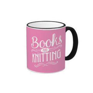 Books and Knitting Mug