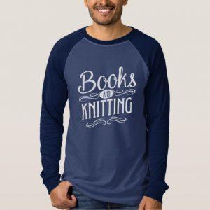 Books and Knitting Mug (men's white design)