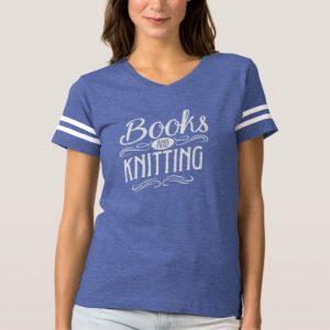 Books and Knitting Mug (women's white design)