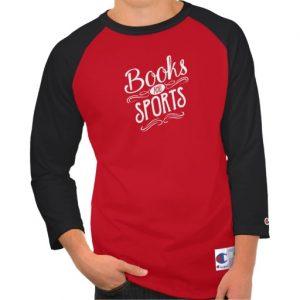 Books and Sports Shirt (men's white design)
