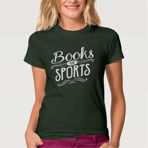 Books and Sports Shirt (women's white design)