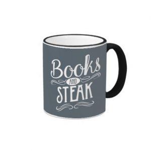 Books and Steak Mug