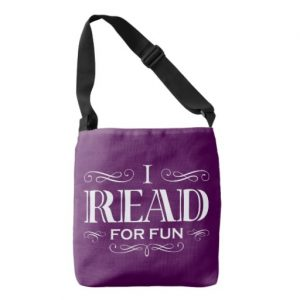 I Read For Fun Cross Body Bag (white design)