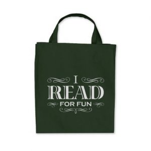 I Read For Fun Grocery Tote Bag (white design)