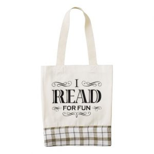 I Read For Fun Heart Tote