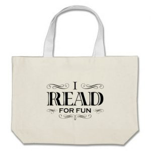 I Read For Fun Jumbo Tote Bag (black design)