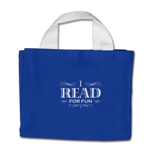 I Read For Fun Mini Tote Bag (white design)