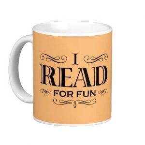 I Read For Fun Mug (black design)