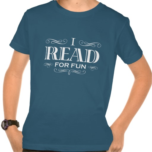 I Read For Fun T-shirt (kid's white design)