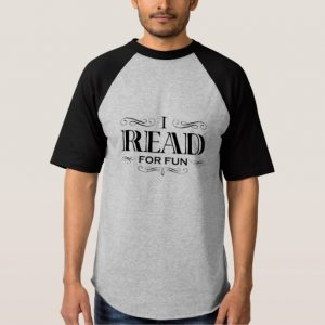 I Read For Fun T-shirt (men's black design)