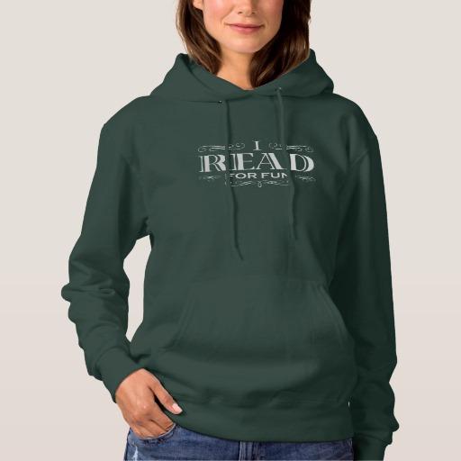 I Read For Fun T-shirt (women's white design)