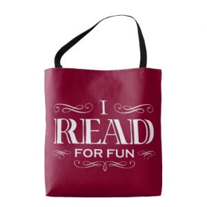 I Read For Fun Tote Bag (white design)