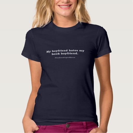 #bookwormproblems 03 Shirt (white design)