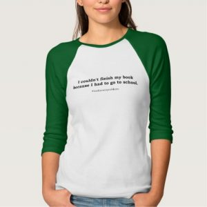 #bookwormproblems 05 Shirt (black design)