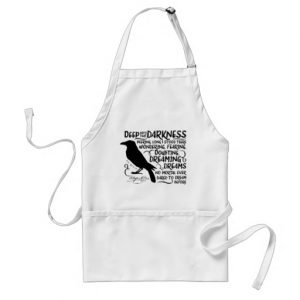 Raven (Deep Into That Darkness) by Edgar Allan Poe Adult / Kid's Apron