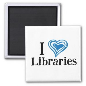 I [Heart] Libraries Magnet (blue/black)