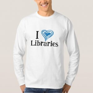 I [Heart] Libraries Men's Shirt (blue/black)