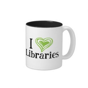 I [Heart] Libraries Mug (green/black)