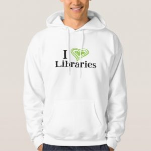 I [Heart] Libraries Men's Shirt (green/black)