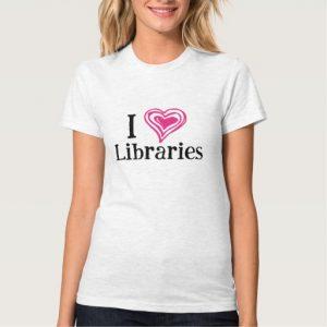 I [Heart] Libraries Women's Shirt (pink/black)