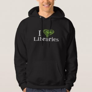 I [Heart] Libraries Women's Shirt (green/black)