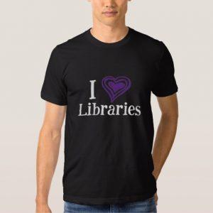 I [Heart] Libraries Men's Shirt (purple/white)