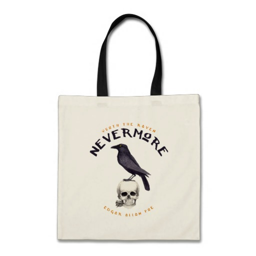 Quoth the Raven Nevermore - Edgar Allan Poe Tote Bag