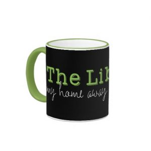 The Library: My Home Away From Home Mug (white design)
