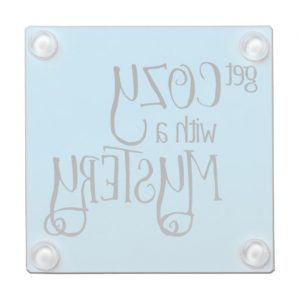 Get Cozy with a Mystery Glass Coaster (black design)