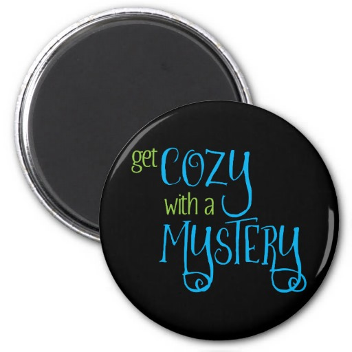 Get Cozy with a Mystery Magnet (colored design on dark)