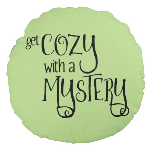 Get Cozy with a Mystery Round Pillow (black design)