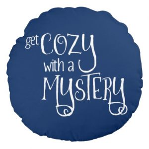 Get Cozy with a Mystery Round Pillow (white design)