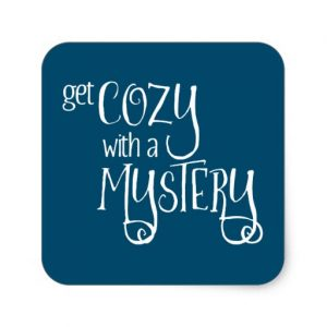 Get Cozy with a Mystery Square Sticker (white design)