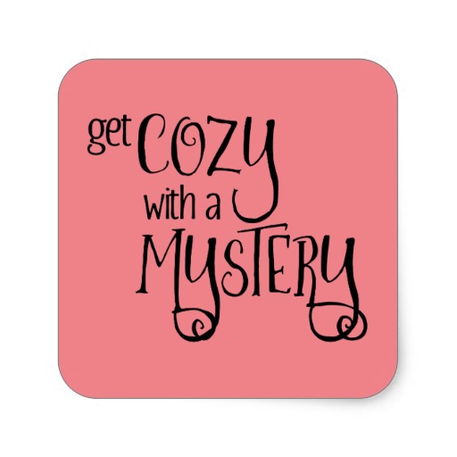 Get Cozy with a Mystery Square Sticker (black design)