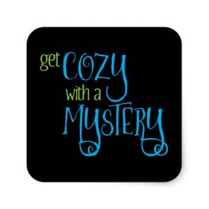 Get Cozy with a Mystery Square Sticker (colored design on dark)