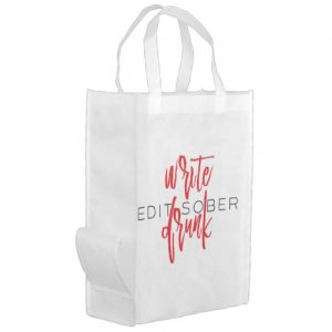 Write Drunk Edit Sober Grocery Bag