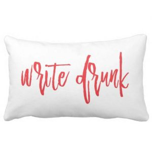 Write Drunk Edit Sober Lumbar Double-Sided Pillow