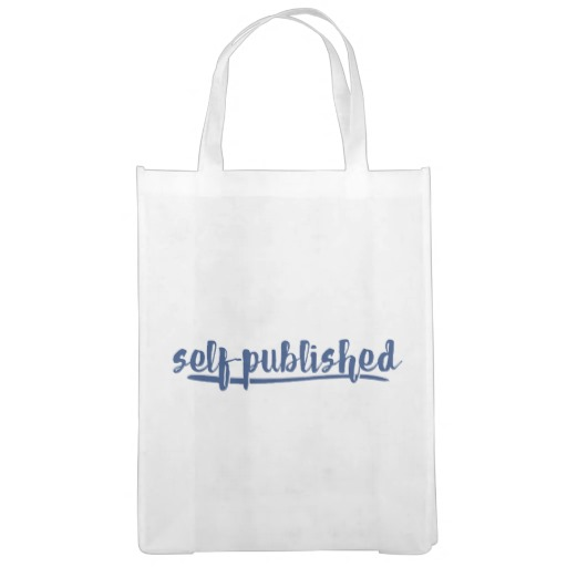 Self-published Grocery Bag (blue design)