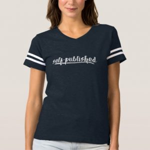 Self-published Woman's Shirt (white writing)