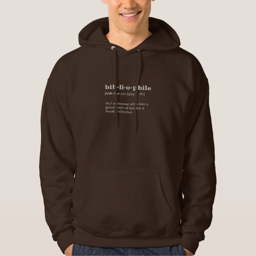 Bibliophile Definition and Pronunciation Shirt (men's black design)