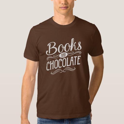 Books and Chocolate (men's white design)